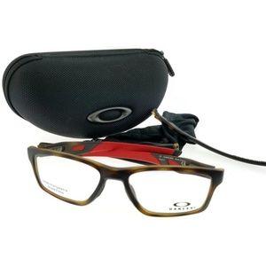 81a9eb962b6 OX8090-08-55 Crosslink Mens Brown Frame Eyeglasses · NWT